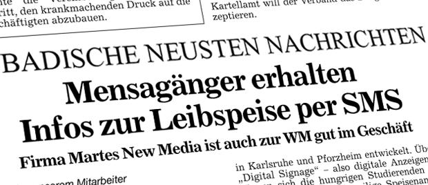 Werbeagentur Karlsruhe - Pressespiegel