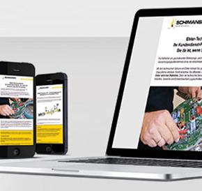 Individuel designed online-newsletter