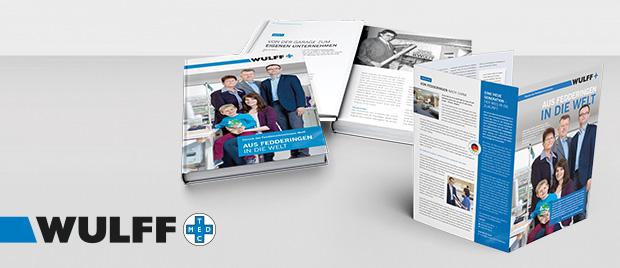Werbeagentur aus Karlsruhe gestaltet Firmenchronik Wulff