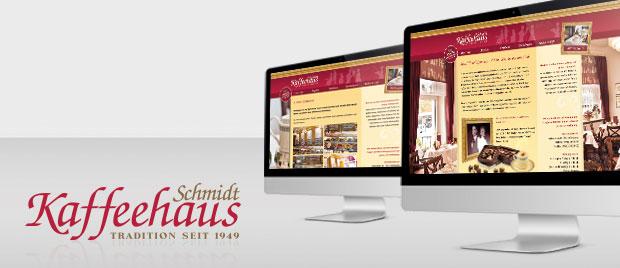Werbeagentur Karlsruhe: Internetauftirtt Kaffeehaus Schmidt