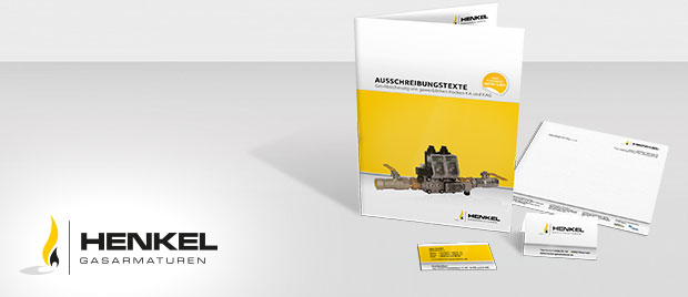Werbeagentur Karlsruhe: Henkel-Gasarmaturen Logogestaltung