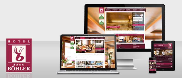 Werbeagentur Karlsruhe: Relaunch Internetseite Hotel Böhler