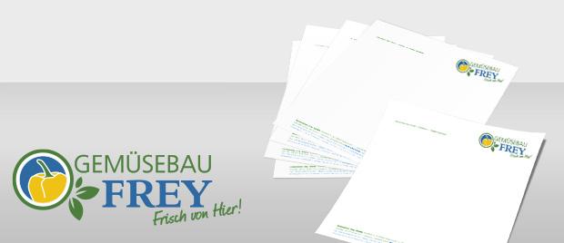 Gemüsebau Frey: Briefbogen
