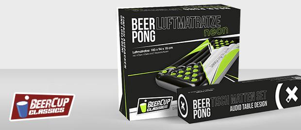 Beer Pong: Produkte und Verpackung