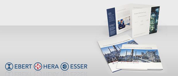 Imagebroschüre und Mappe: Ebert HERA Esser Group
