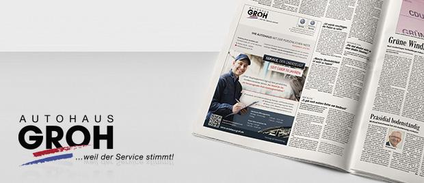 Die Werbeagentur Karlsruhe gestaltet eine Imageanzeige
