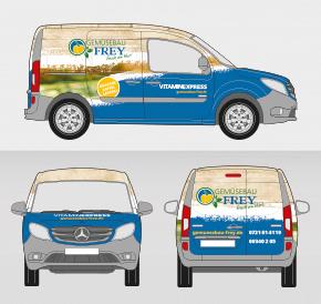 Fahrzeug Vollfolierung: Vitaminexpress für Gemüsebau Frey